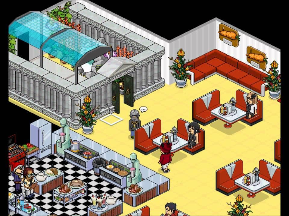 Habbo Habblet ~ Habbo Hotel 1 u00ba Video Massacre do restaurante YouTube