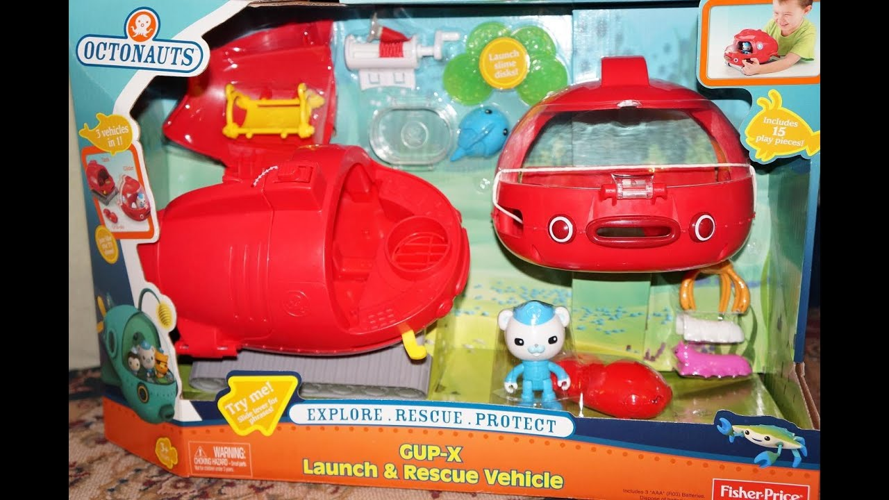 Fisher-Price Octonauts Launch and Rescue Gup X Vehicle - YouTube