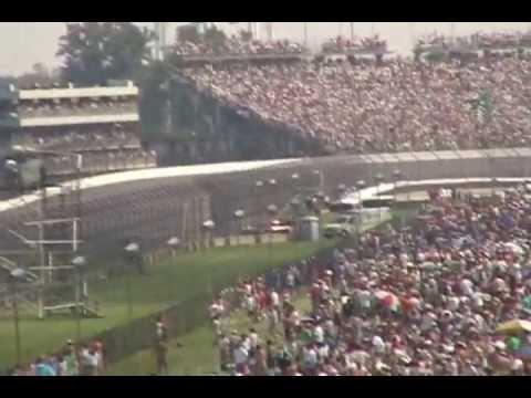 2006 Indy 500 finish turn 3. Andretti vs. winner Hornish Jr.