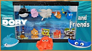 FINDING DORY and FRIENDS AQUARIUM Toys That Swim! Dory Nemo Bailey Whale