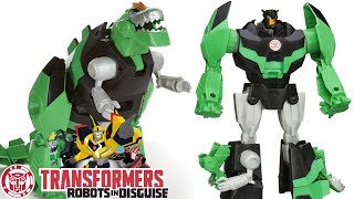 Robots in Disguise Toys Grimlock Dinobot | Green Dinosaur Transformer