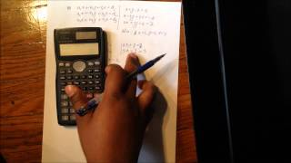 Solving two and three unknowns equation using  by Casio Fx-991 MS scientific calculator