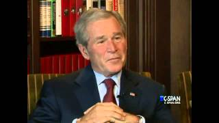Former President George W. Bush advice to brother Jeb Bush (C-SPAN)
