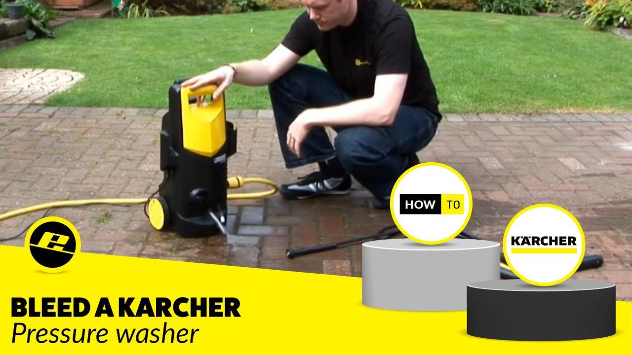 Pressure Washer Fix How To Bleed A Karcher Pressure