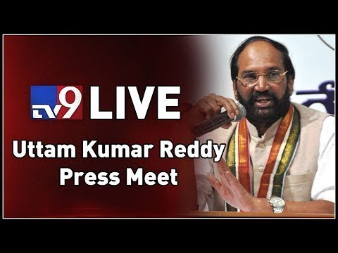 TPCC Chief Uttam Kumar Reddy Press Meet LIVE || Hyderabad - TV9