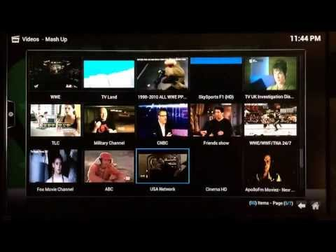 How to Configure MashUp to Watch Live TV and Live Sports Events on XBMC Gotham & Frodo