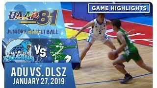 UAAP 81 Jrs Basketball: AdU vs. DLSZ | Game Highlights | January 27, 2019