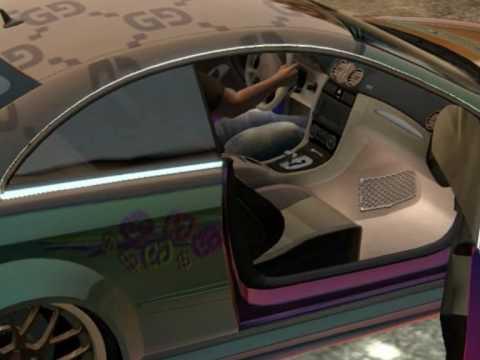 car show mercedes benz clk63 amg 39 39 gucci flippaint 39 39 by sfd custom cars midnightclub los. Black Bedroom Furniture Sets. Home Design Ideas