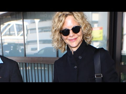 80's Icon Meg Ryan Glowing At LAX