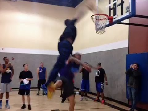 Chris Brown Dunked On By Andre Drummond video