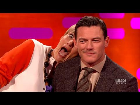 EMMA THOMPSON's Red Carpet Photo Bombing - The Graham Norton Show on BBC AMERICA