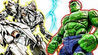 Immortal Hulk Transform Versus Megatron Decepticons Figures~ Hot Toys Giants Battle #Toymarvel