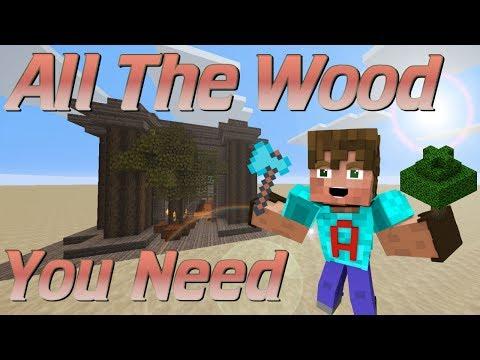 How to Make a Tree Farm in Minecraft | Semi Automatic Minecraft Tree Farm | Easy Redstone Tutorial