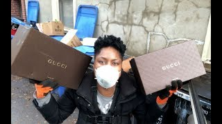 Dumpster Diving: It's An AMAZING DUMPSTER DIVING DAY FOR GUCCI !!