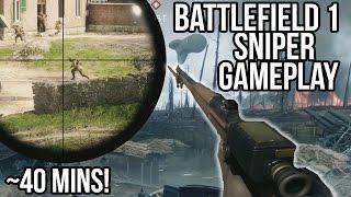 BATTLEFIELD 1 SNIPER RAW GAMEPLAY 40 MINUTES! | BF1 Squads Livestream