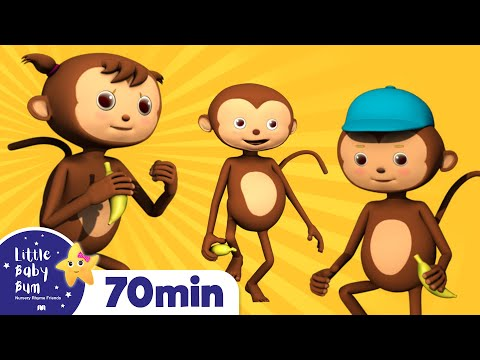 Five Little Monkeys Jumping On The Bed | Plus Lots More Nursery Rhymes | 72 Minutes Compilation!