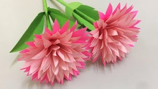 How to Make Beautiful Flower with Paper - Making Paper Flowers Step by Step - DIY Paper Flowers #23
