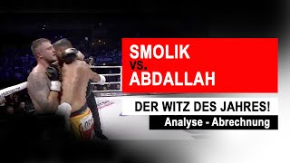 Analyse - Abrechnung: Smolik vs. Abdallah, Ultimate Boxing