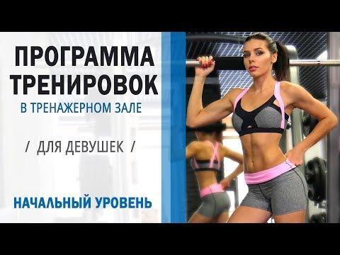 Программа на тренажерах для начинающих девушек