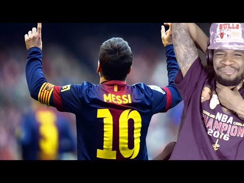 LOL MADE HIM EAT THE GRASS! LIONEL MESSI TOP 10 GOALS & SKILLS REACTION!