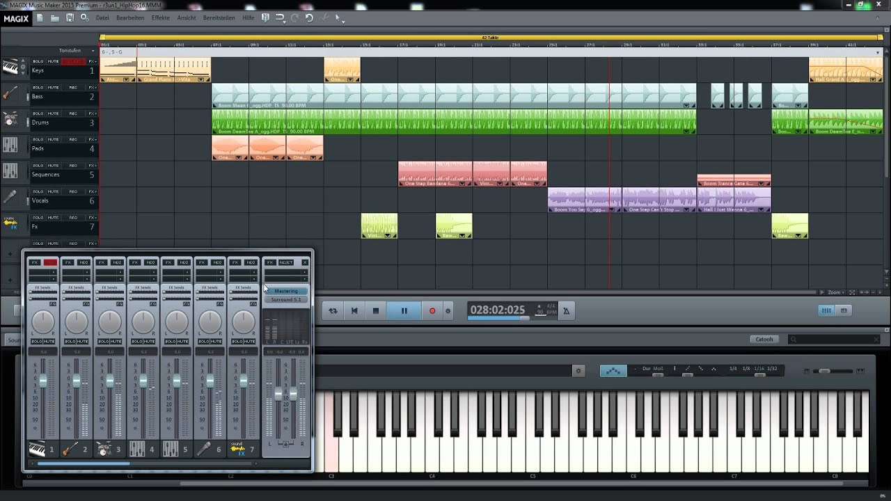 magix music maker 2015 premium   hiphop v16 promo   youtube