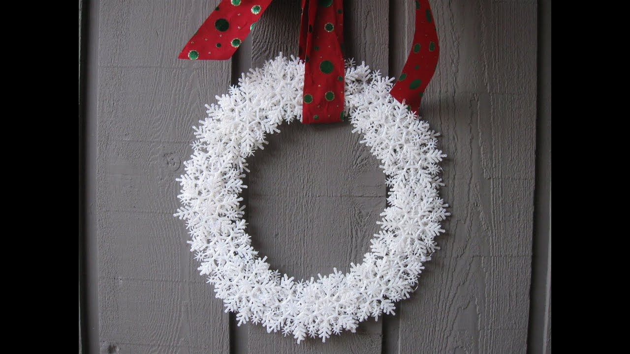 snowflake wreath craft tutorial