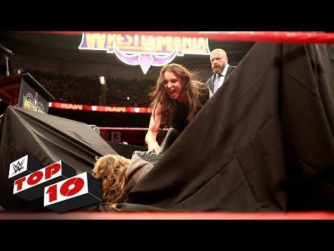 Top 10 Raw moments: WWE Top 10, April 2, 2018 thumbnail