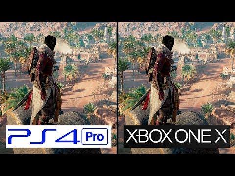 Assasins Creed Origins | PS4 Pro VS Xbox One X | 4K Graphics Comparison | Comparativa