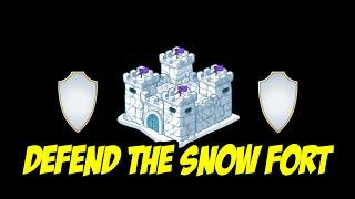 Minecraft: Defend The Snow Fort w/ Jerome, Kenny, & Preston