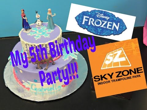 MY 5TH BIRTHDAY PARTY!!! ~ Frozen Party at Sky Zone ~ GabriellaDamarisShow ~