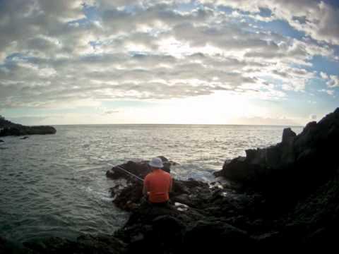 рыбалка на спиннинг с берега на тенерифе
