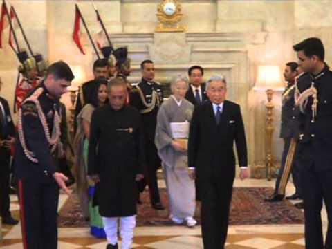 03 dec, 2013 - Japanese Royals meet Indian President, receive ceremonial reception