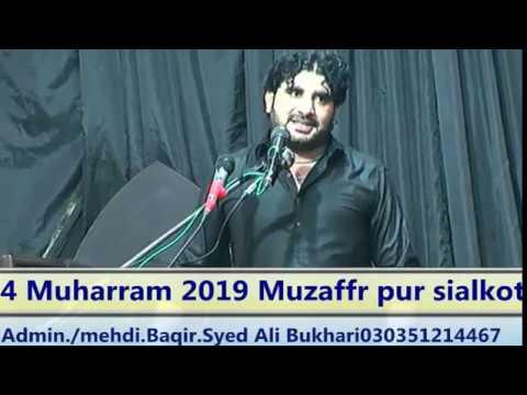 Live Ashra Muharam (Zakir Imran kazmi ) 04 Muhram Muzaffar pur Sialkot 2019