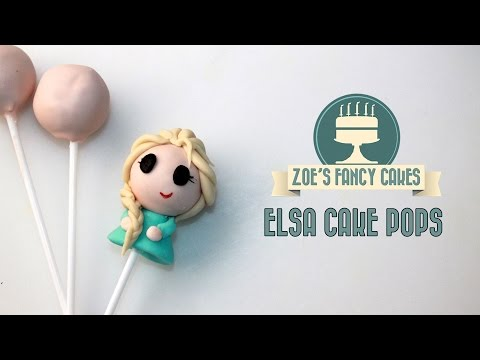 Elsa cake pop disney princess Elsa chibi cake pop tutorial Frozen cake pops