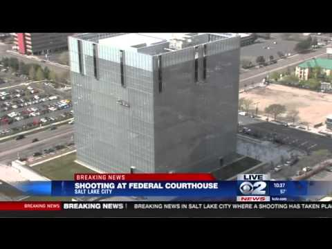Shooting at Salt Lake City Federal Courthouse in connection with a gang related trial