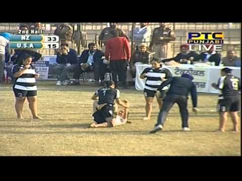 New Zealand Vs Usa | Women's | Day 9 | Pearls 4th World Cup Kabaddi Punjab 2013 video