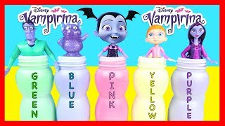 Learn Colors With Vampirina Slime Bottles and Surprise Toys   Ellie Sparkles