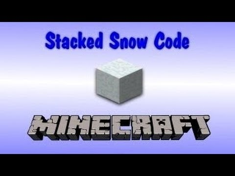 Minecraft: Using Stacked Snow as a Secret Code