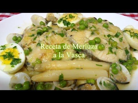 Receta tradicional de merluza a la Vasca