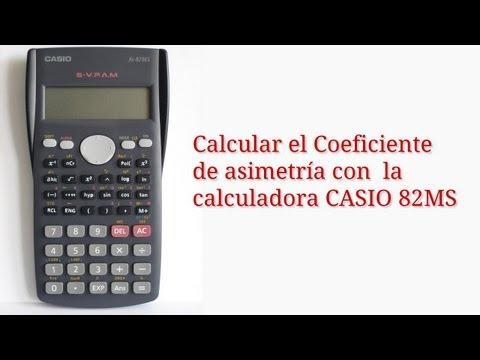 Cómo calcular el Coeficiente de Asimetría con la Calculadora CASIO fx-82MS