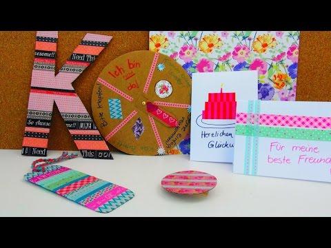 Washi Tape Ideen DIY / 5 Ideen Mit Washi Tape / Nützliches Zum Dekorieren Und Verschenken