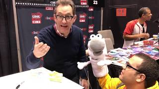 Meeting Tom Kenny (the voice of SpongeBob SquarePants!) at C2E2 2018!
