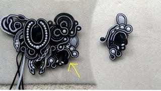 Beading4perfectionists : Soutache with small pearls and adding an extra thread tutorial