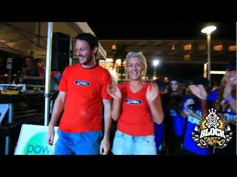 THE BLOCK PARTY 2012 CAIRNS - Nick & Jess from Hot FM Freestyle Battle