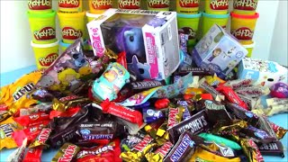 Halloween Candy Surprise Basket with Shopkins MLP Disney Toys