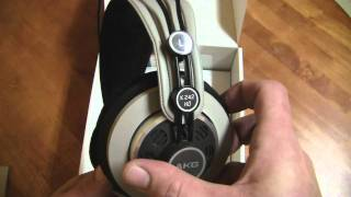 Unboxing the AKG 242 HD High Definition Headphones