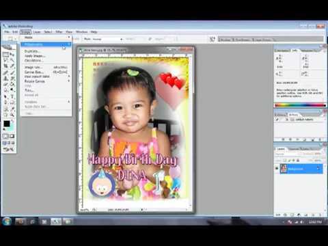 Editing foto hasil lukisan pensil dengan Photoshop.mp4
