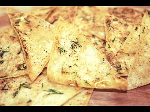 Домашние чипсы из лаваша за 2 минуты / Healthy Homemade Pita Chips Recipe