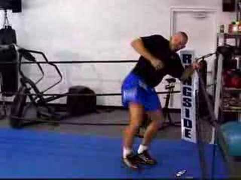 Chuck Liddell working out with Heavy Airs shoes Image 1