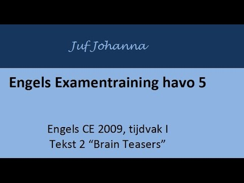 Examentraining Engels Havo 2009 I Tekst 2